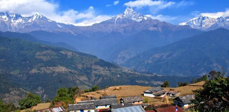 Mountain view from Dhampus village