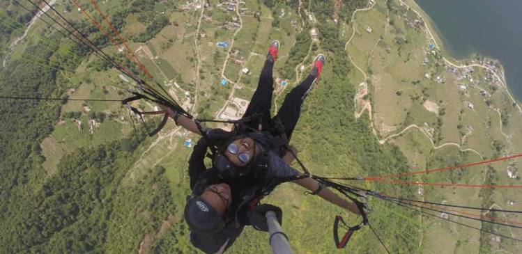 Paragliding at Sarangkot